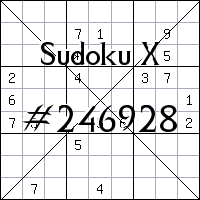 Sudoku X №246928