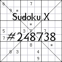 Sudoku X №248738
