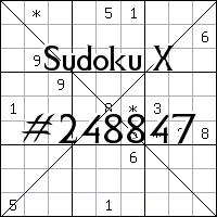 Sudoku X №248847