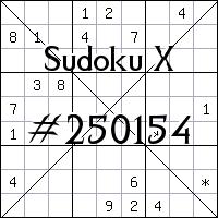 Sudoku X №250154
