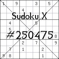 Sudoku X №250475
