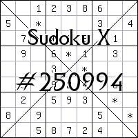 Sudoku X №250994