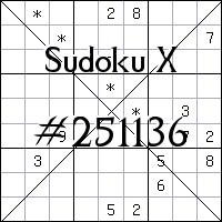 Sudoku X №251136