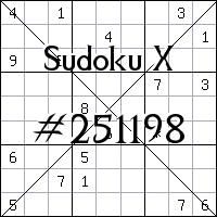 Sudoku X №251198