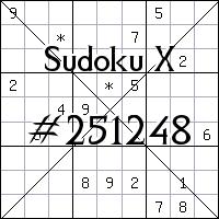 Sudoku X №251248
