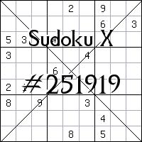 Sudoku X №251919