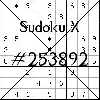 Sudoku X №253892