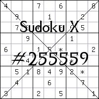Sudoku X №255559