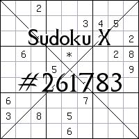 Sudoku X №261783