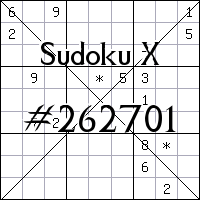 Sudoku X №262701