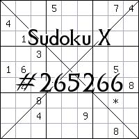 Sudoku X №265266