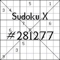 Sudoku X №281277