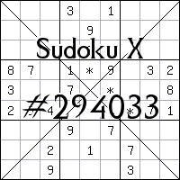Sudoku X №294033