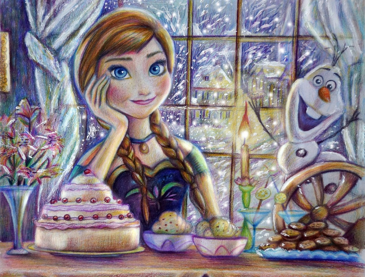 Puzzle Zbierać puzzle online - Anna with Olaf