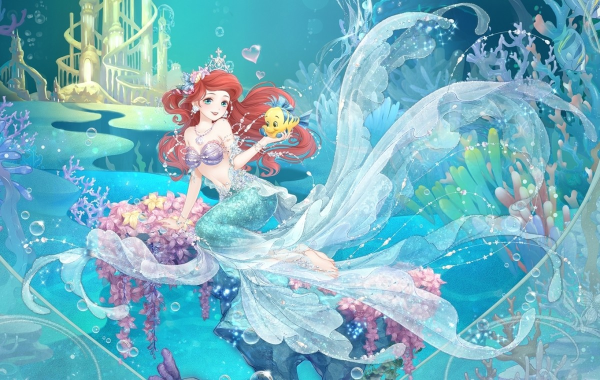 Puzzle Zbierać puzzle online - Ariel anime style