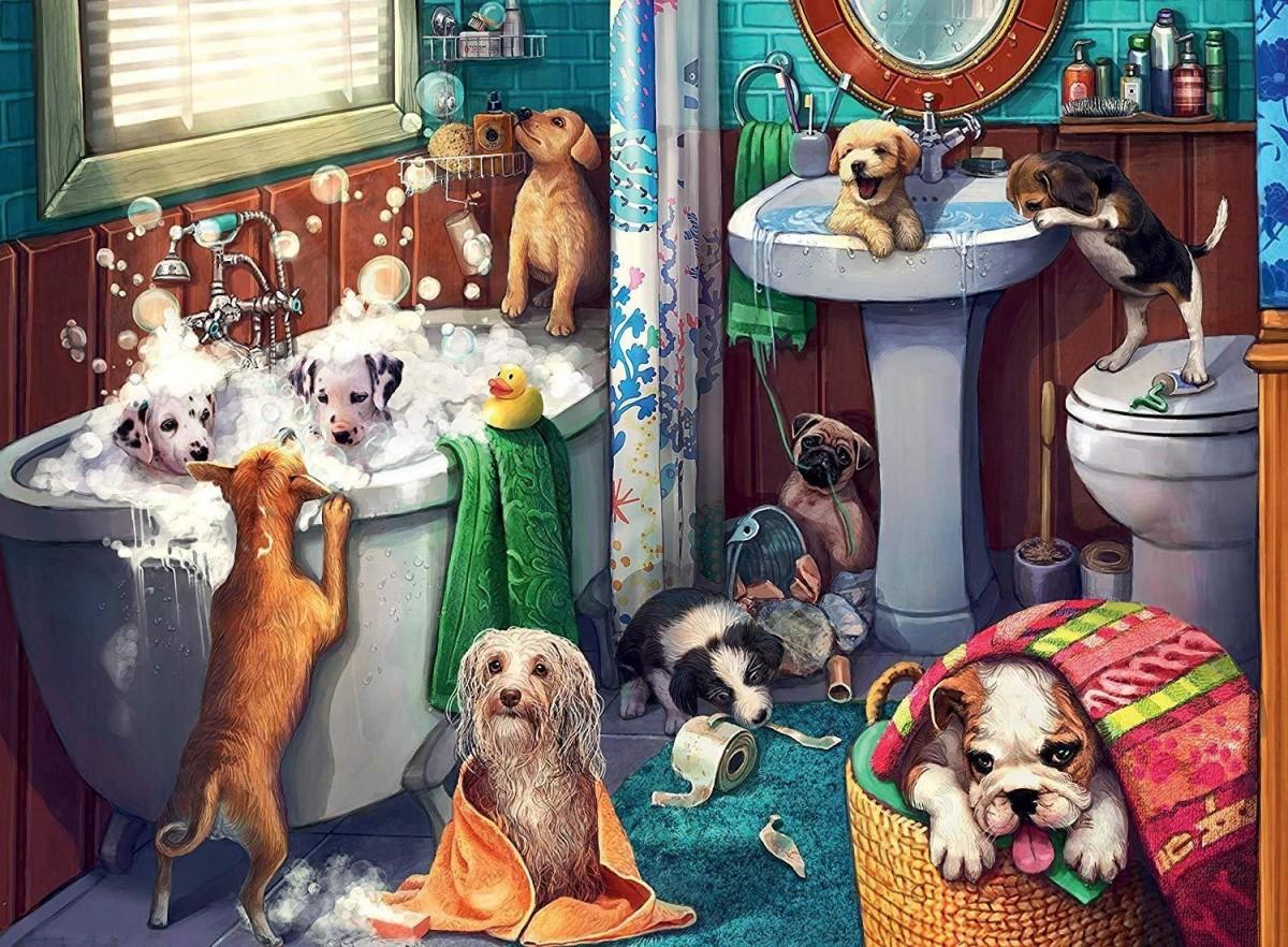 Puzzle Zbierać puzzle online - Bath day