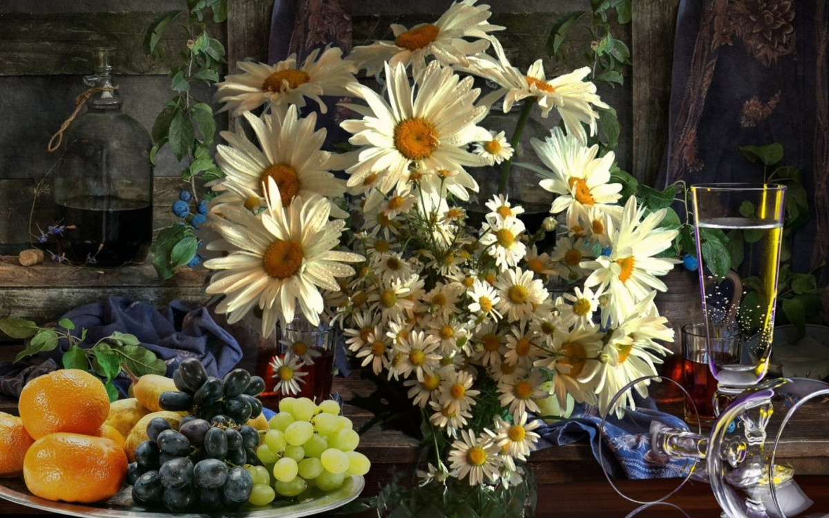 Puzzle Zbierać puzzle online - A bouquet of daisies