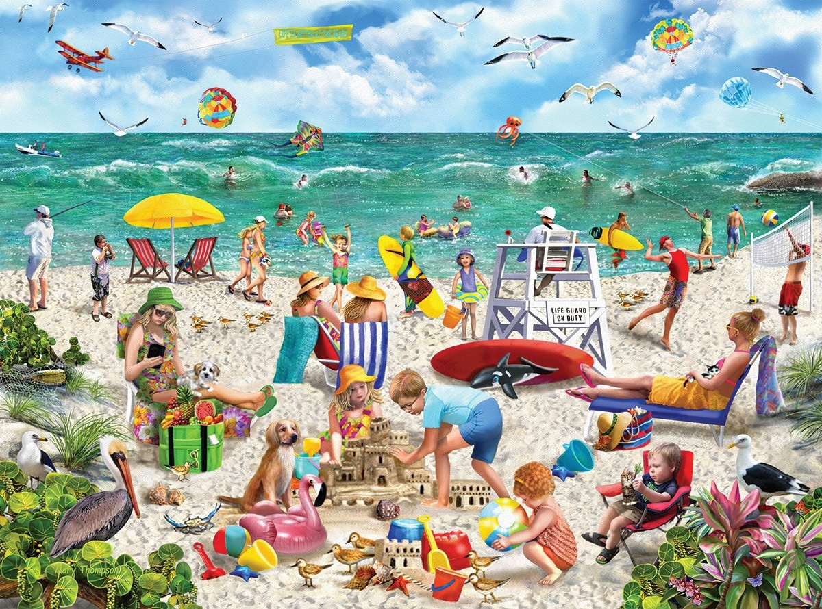 Puzzle Zbierać puzzle online - A day at the beach