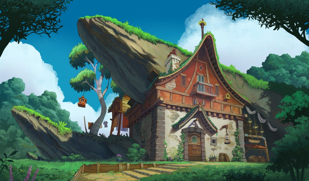 Puzzle Zbierać puzzle online - House under the rock
