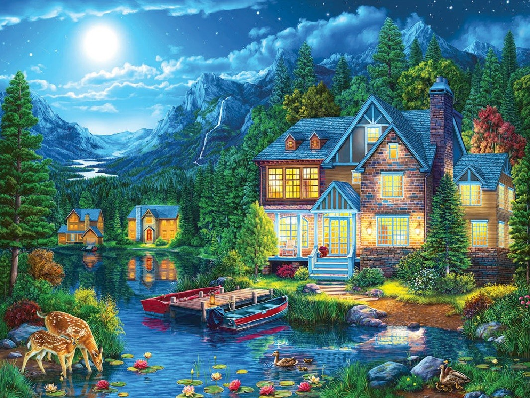Puzzle Zbierać puzzle online - The lake house