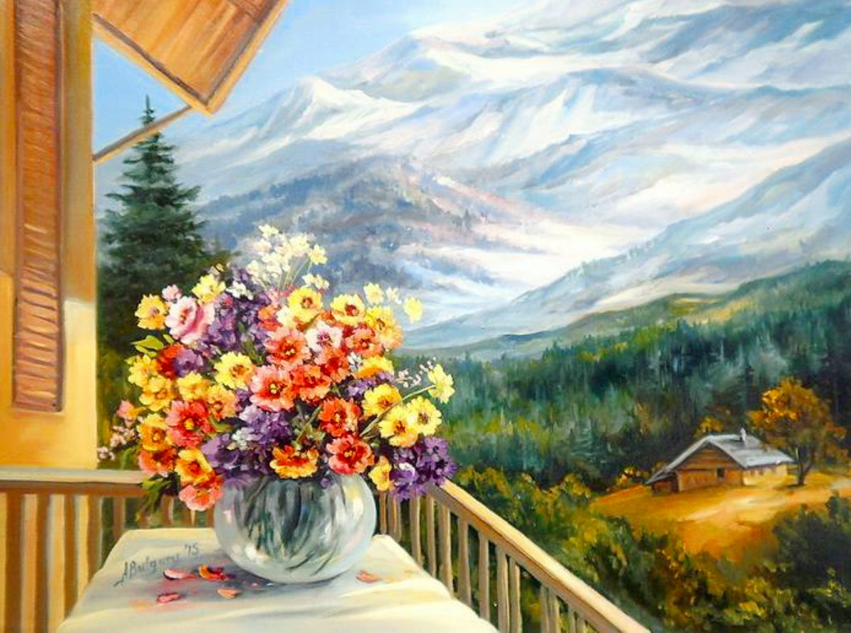 Puzzle Zbierać puzzle online - The cabin in the mountains