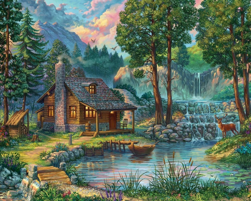 Puzzle Zbierać puzzle online - The cabin in the woods