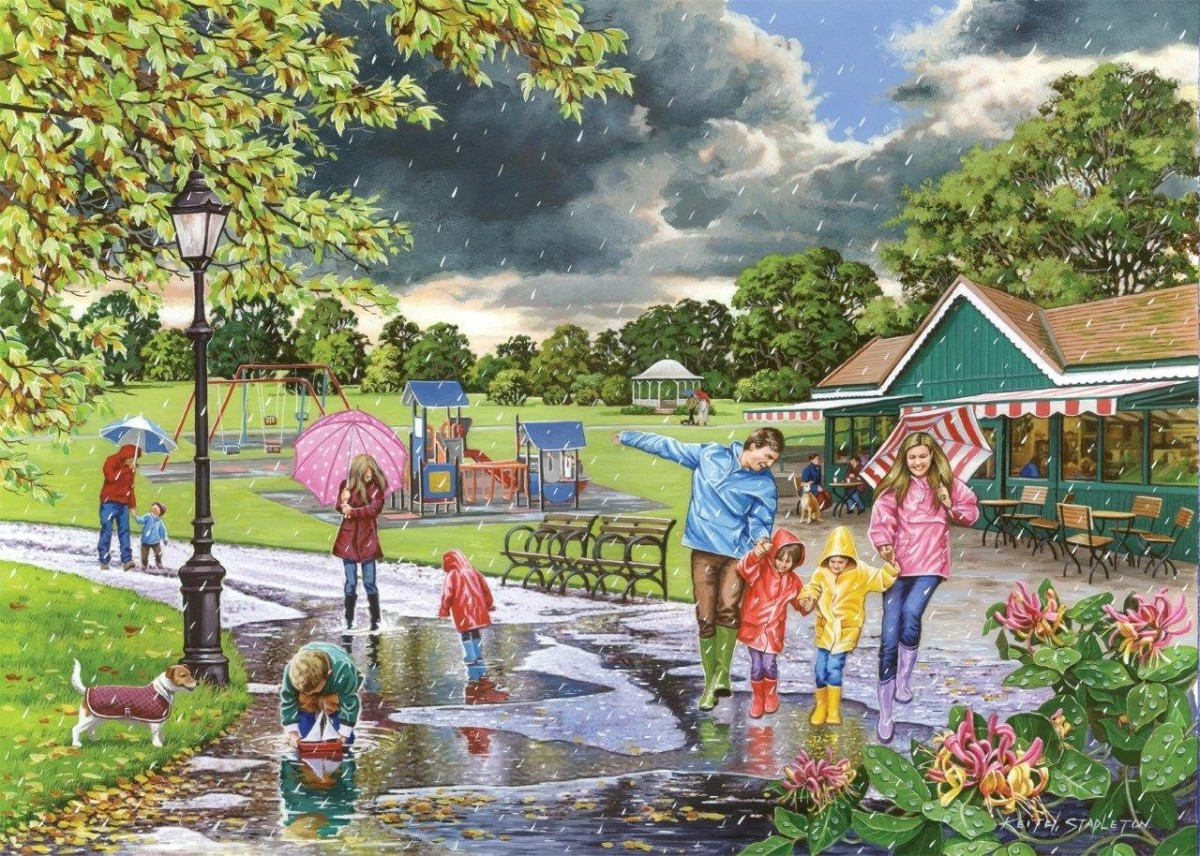 Puzzle Zbierać puzzle online - Rain