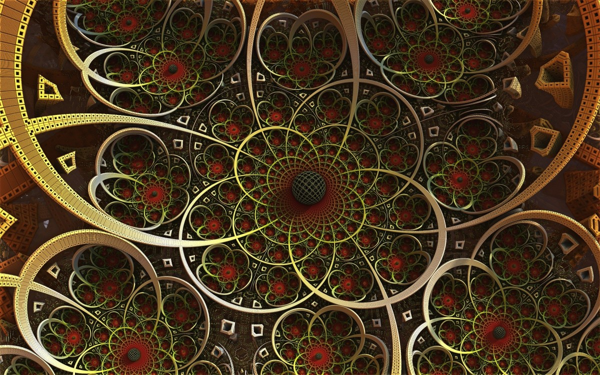 Puzzle Zbierać puzzle online - A fractal with a ball