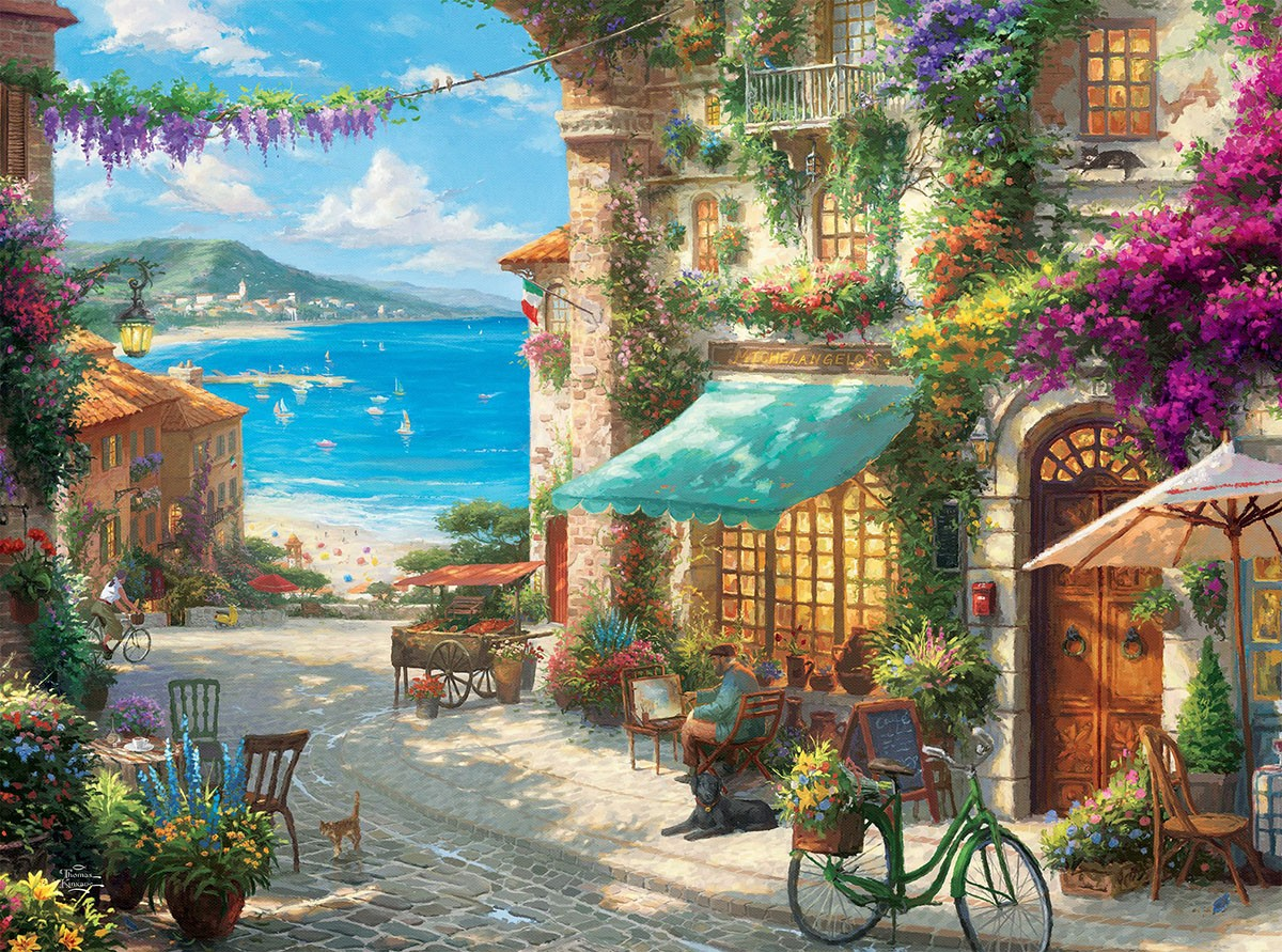 Puzzle Zbierać puzzle online - Italian cafe