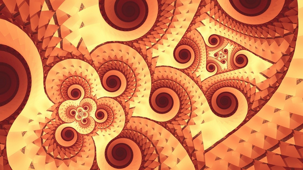 Puzzle Zbierać puzzle online - Brown spiral