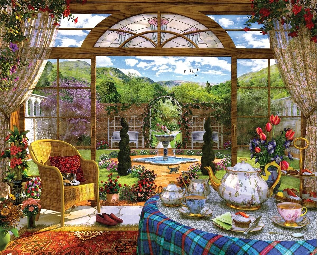 Puzzle Zbierać puzzle online - Summer tea party