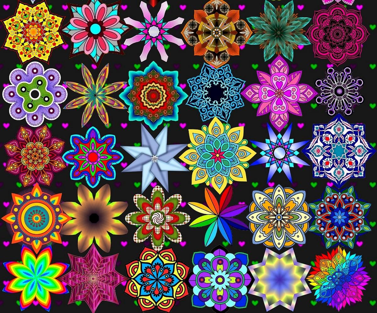 Puzzle Zbierać puzzle online - Mandala