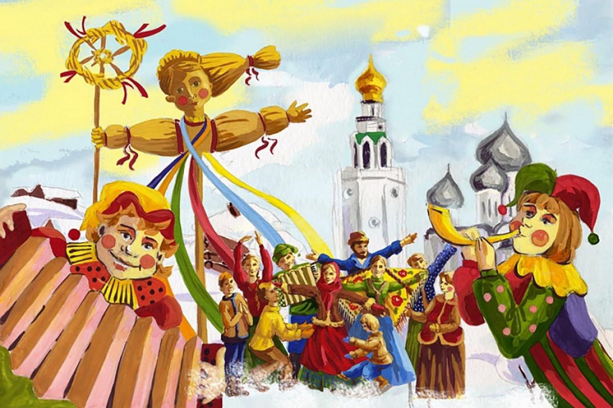 Puzzle Zbierać puzzle online - Maslenitsa festivities