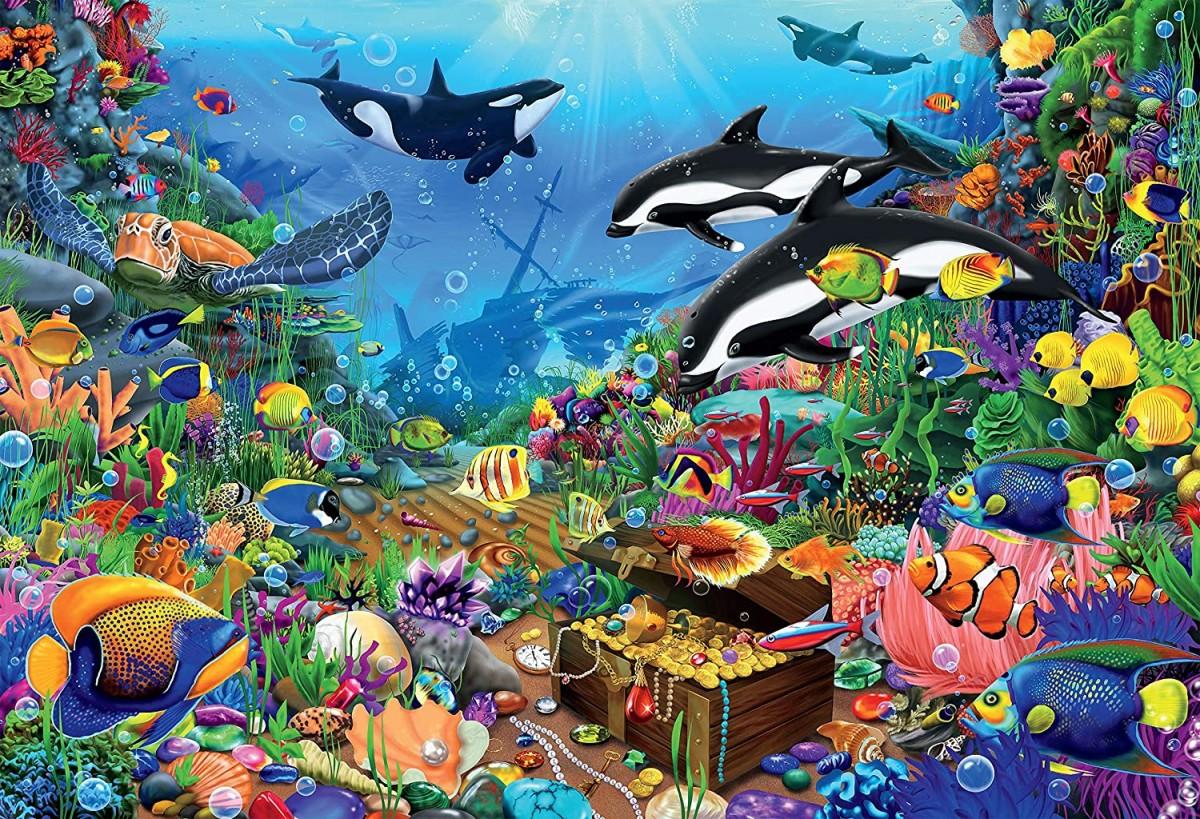 Puzzle Zbierać puzzle online - Sea treasures