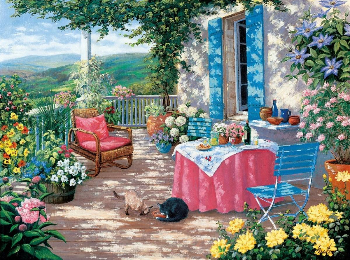 Puzzle Zbierać puzzle online - On the veranda