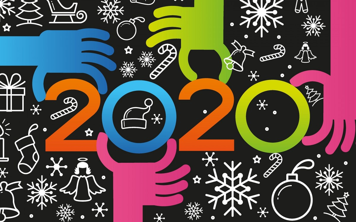Puzzle Zbierać puzzle online - New year 2020