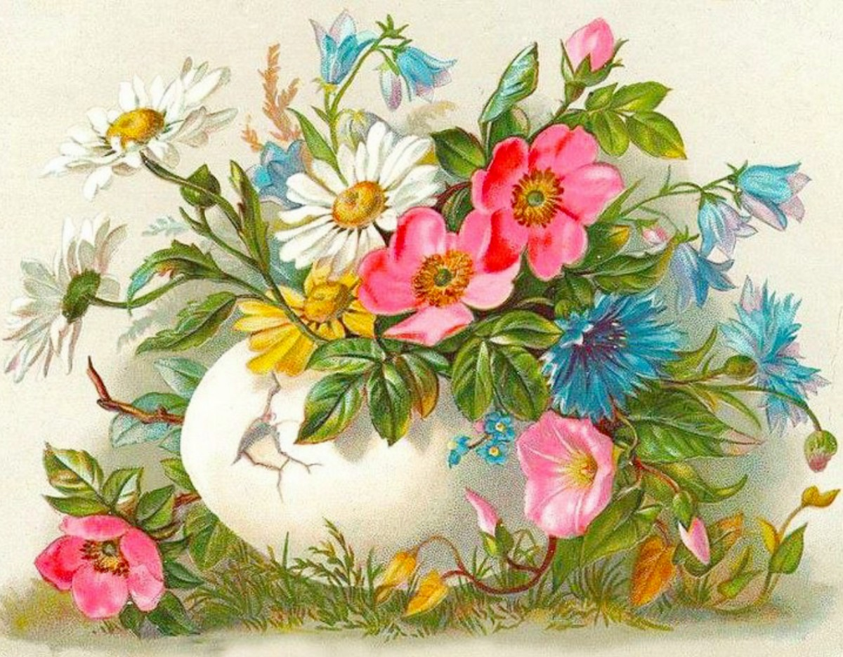 Puzzle Zbierać puzzle online - Easter card