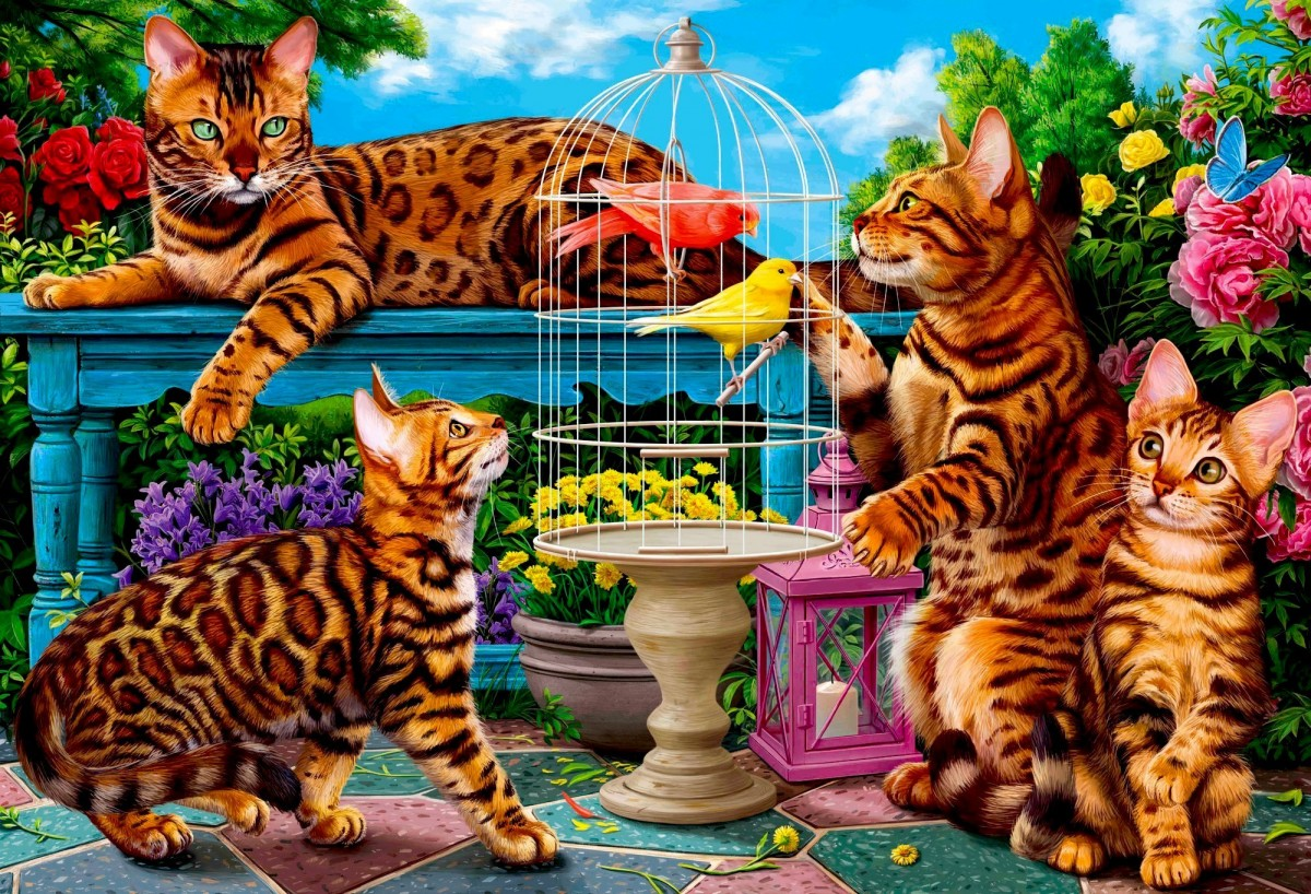 Puzzle Zbierać puzzle online - The bird in the cage