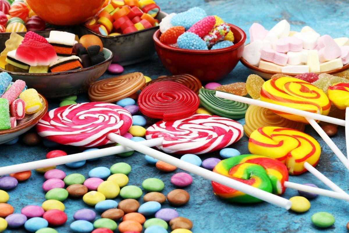 Puzzle Zbierać puzzle online - Colorful candies