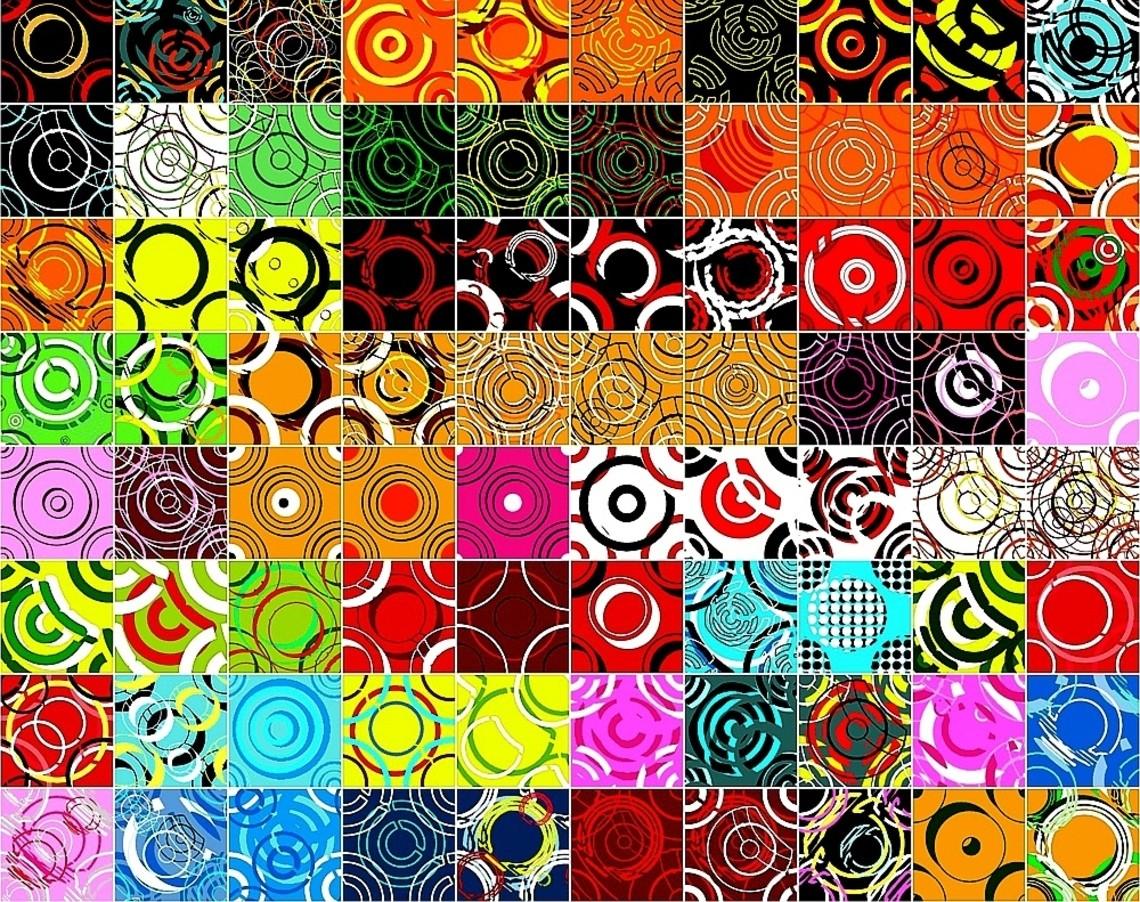 Puzzle Zbierać puzzle online - Colorful circles