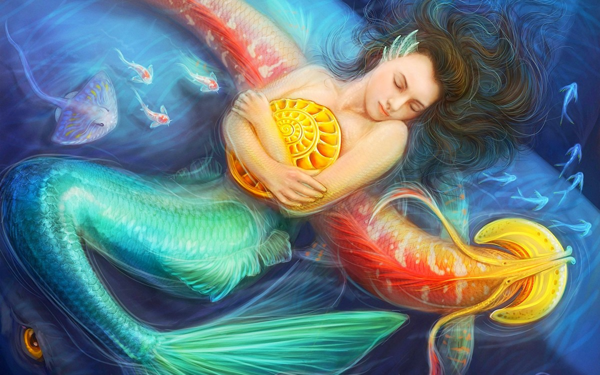 Puzzle Zbierać puzzle online - Sleeping mermaid