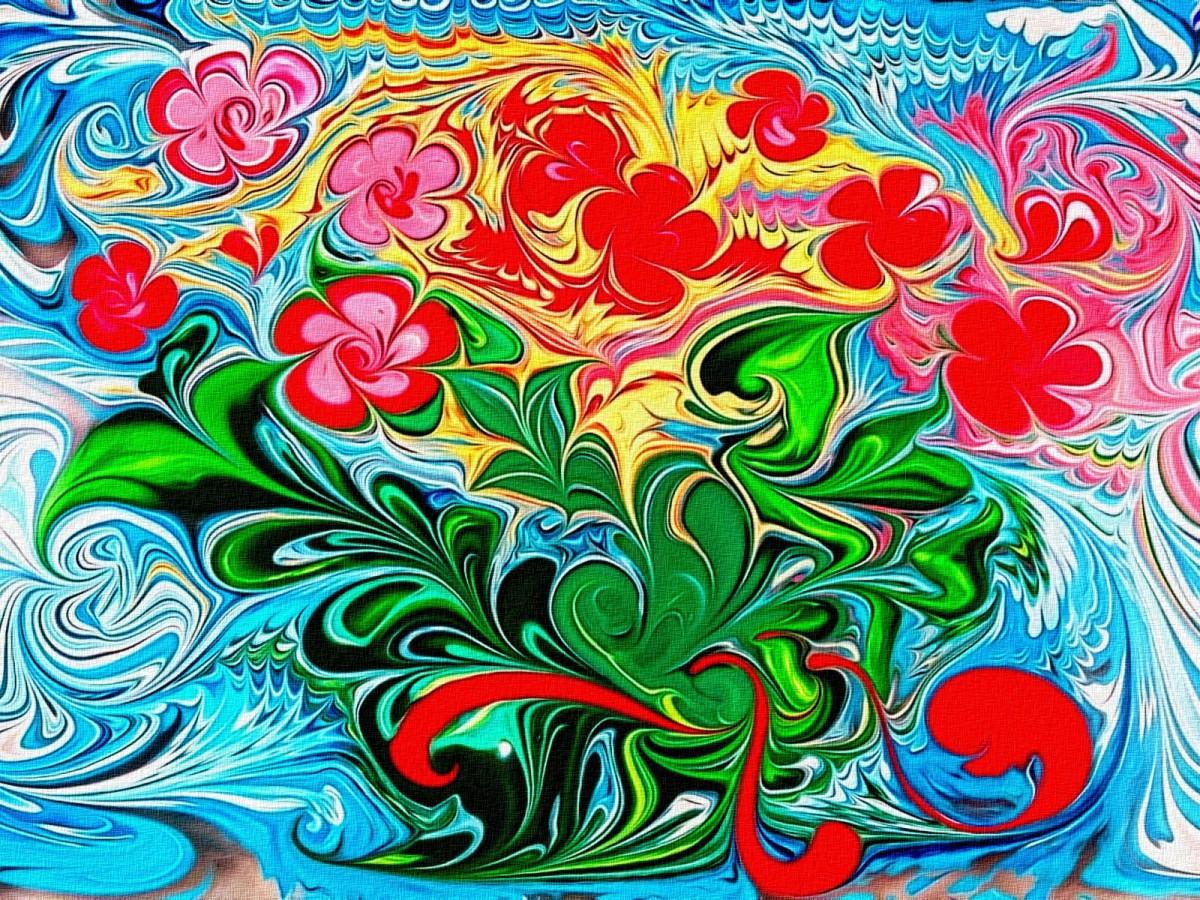 Puzzle Zbierać puzzle online - Floral fantasy