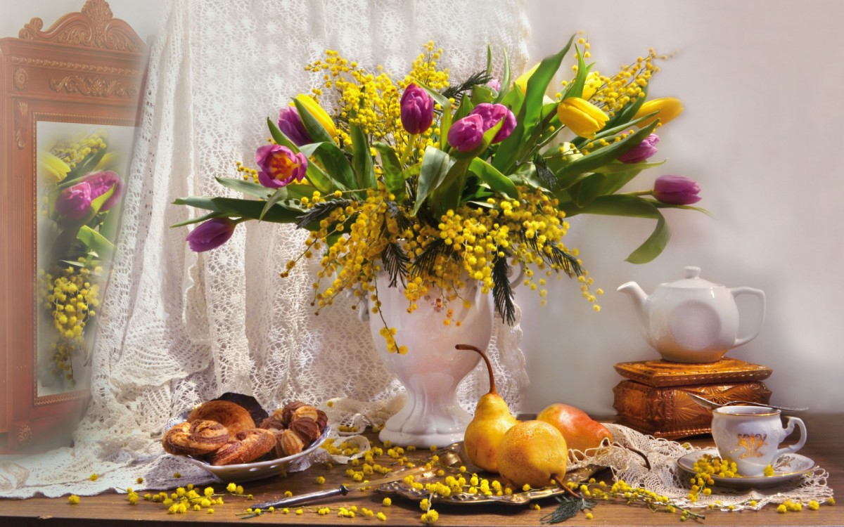Puzzle Zbierać puzzle online - Spring still life