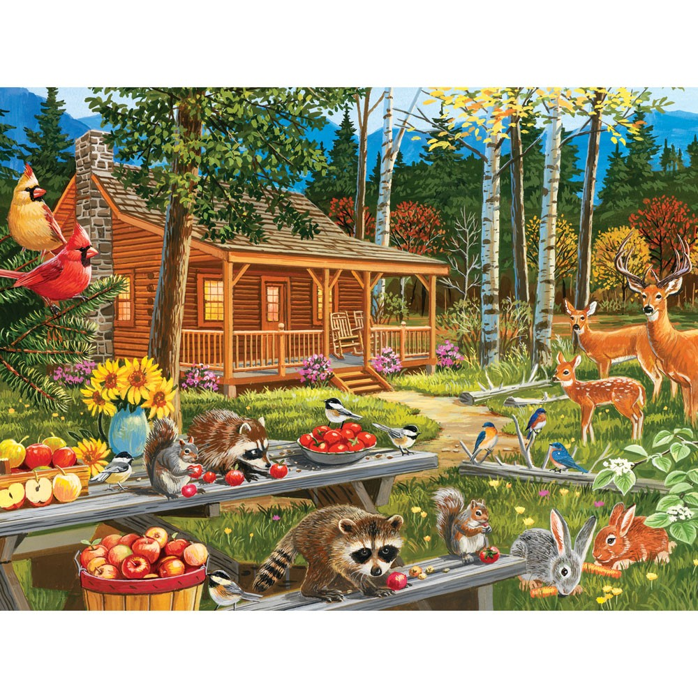 Puzzle Zbierać puzzle online - A delicious dinner