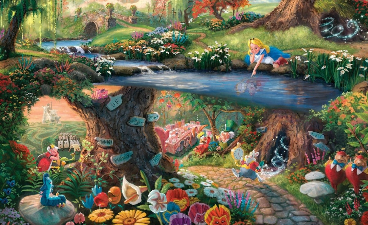 Puzzle Zbierać puzzle online - The magical world of Alice