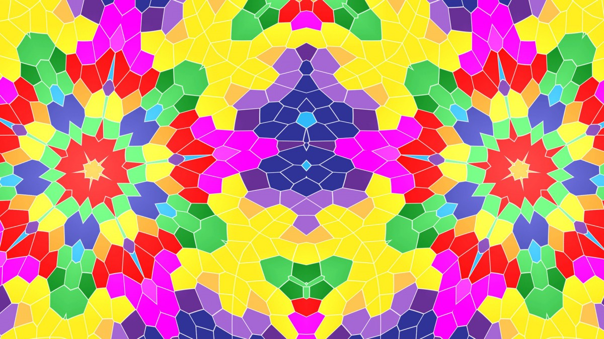 Puzzle Zbierać puzzle online - Cellular kaleidoscope