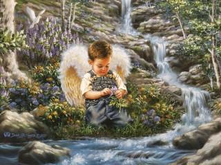 Собирать пазл Angel онлайн