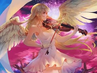 Собирать пазл Angelic music онлайн