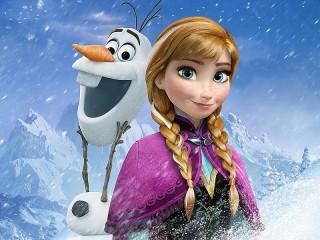 Собирать пазл Anna and Olaf онлайн