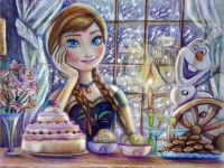 Собирать пазл Anna with Olaf онлайн